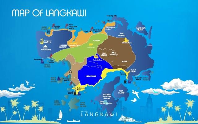 map of Langkawi